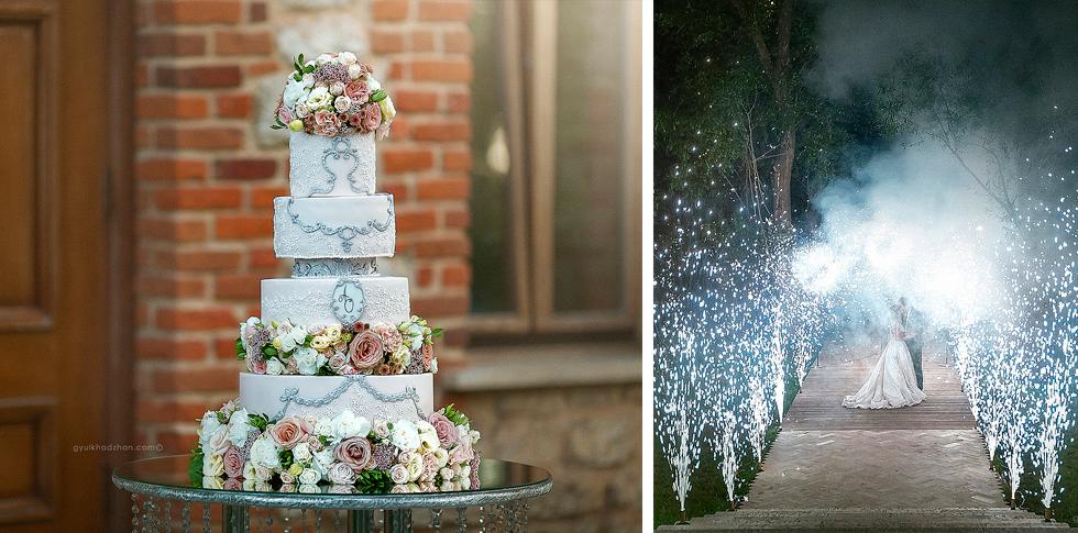 Торт на свадьбу Олега и Анны
