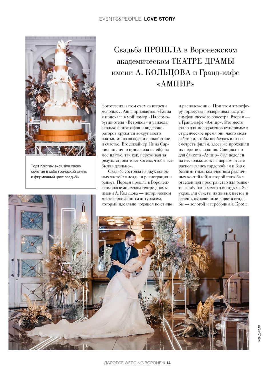 Дорогое Wedding апрель 2019